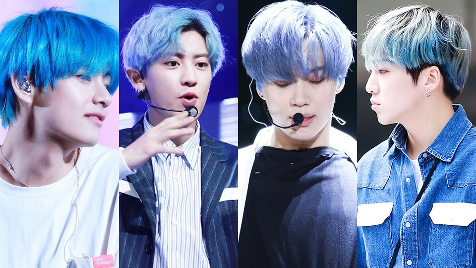 9 Male Idols With Blue Hair That Made Them Too Perfect For This World
