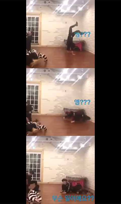 Suga Tried to Imitate Jungkook`s Dance Part in [Blood, Sweat