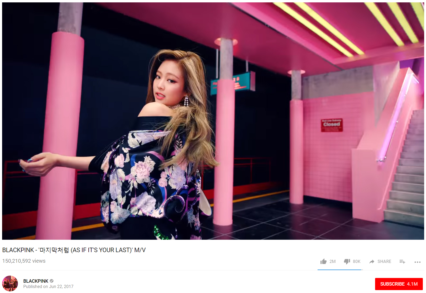 BLACKPINK`s [As If It`s Your Last] is Now 150 Million Rich