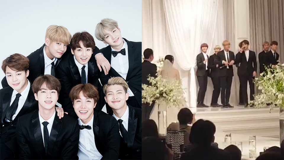 BTS Came Personally to a Wedding Ceremony, Singing the