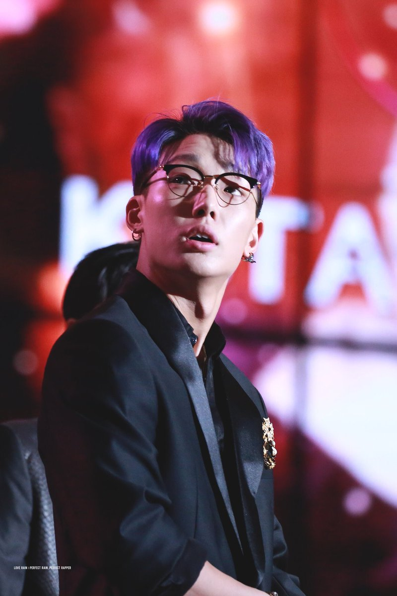 Didnt Know You Needed A Purple Haired Boy In Glasses With The